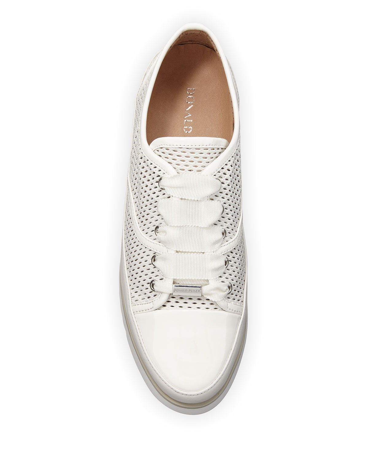 Flipp Perforated Leather Sneakers by Donald J Pliner