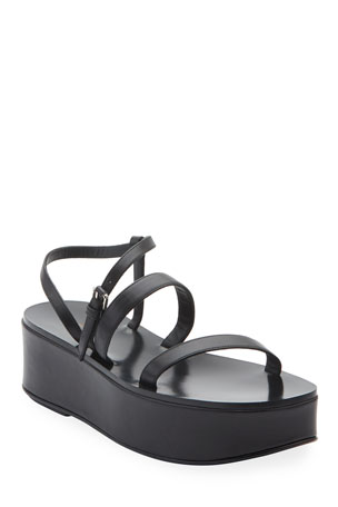 THE ROW Wedge Strappy Platform Sandals