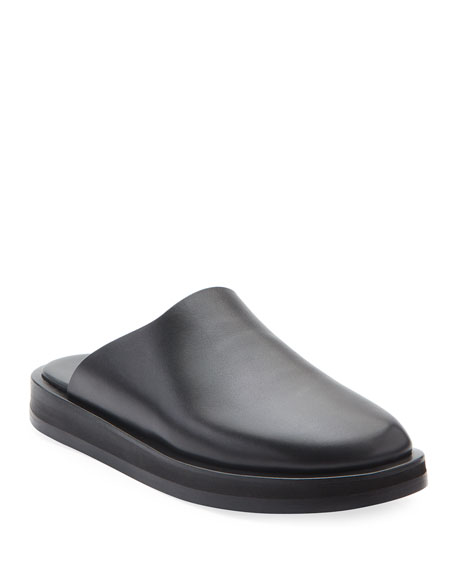 Image 1 of 3: THE ROW Sabot Smooth Calfskin Mules