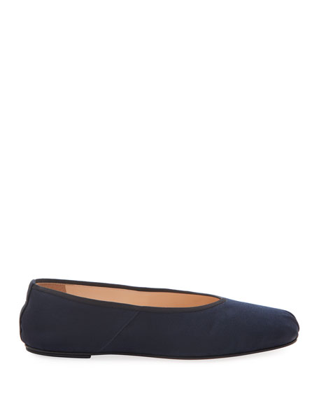 THE ROW Ballet Flats in Washed Satin