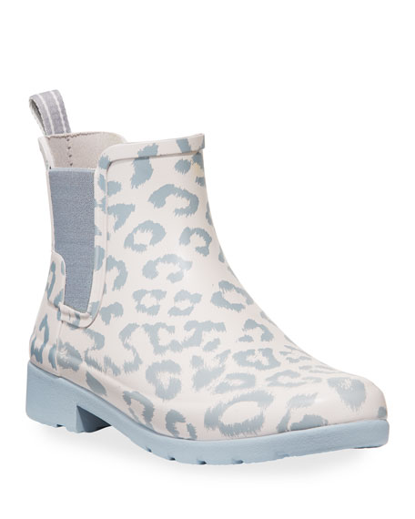 Image 1 of 3: Hunter Boot Refined Leopard Chelsea Booties