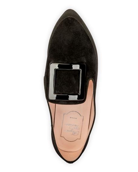 Roger Vivier Viv' Lounge Flat Suede Loafers