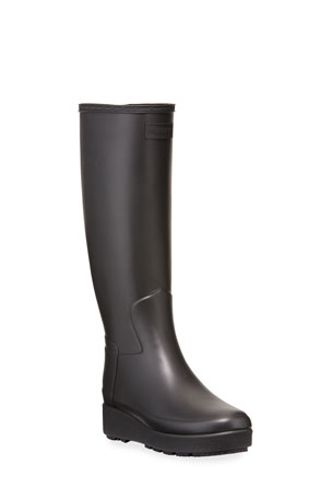Hunter Boot Refined Creeper Tall Rain Boots