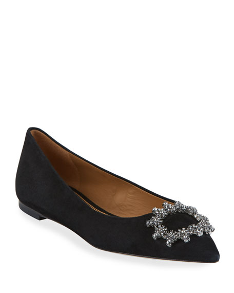 Tory Burch Crystal Buckle Ballet Flats by Tory Burch
