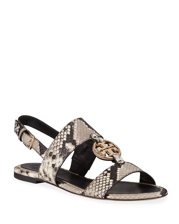 Tory Burch Miller Metal Flat Sandals