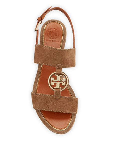 Tory Burch Metal Miller Two-Band Sandals