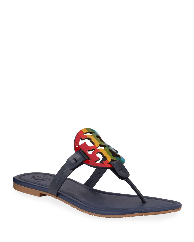 Tory Burch Miller Rainbow Flat Sandals
