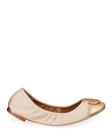 Tory Burch Minnie Cap-Toe Ballet Flats