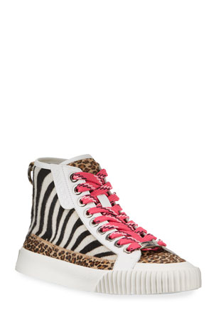 Jimmy Choo Impala Animal Print High-Top Sneakers
