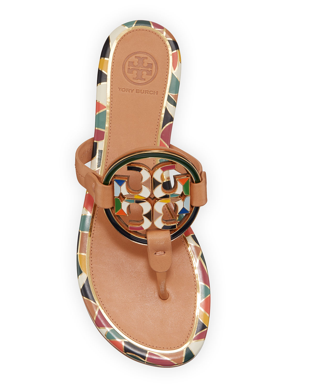Tory Burch Enamel Miller Flat Sandals
