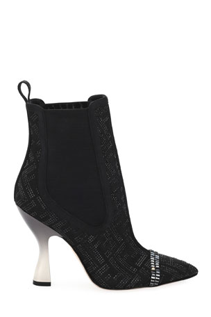 Fendi Colibri 105mm Booties with Crystals