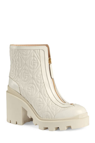 Gucci Trip 70mm Quilted Leather Booties