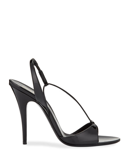 Image 2 of 3: Anouk Patent Slingback Sandals