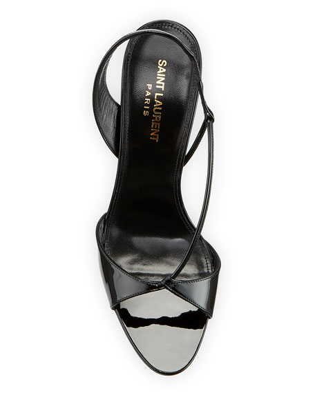 Image 3 of 3: Anouk Patent Slingback Sandals