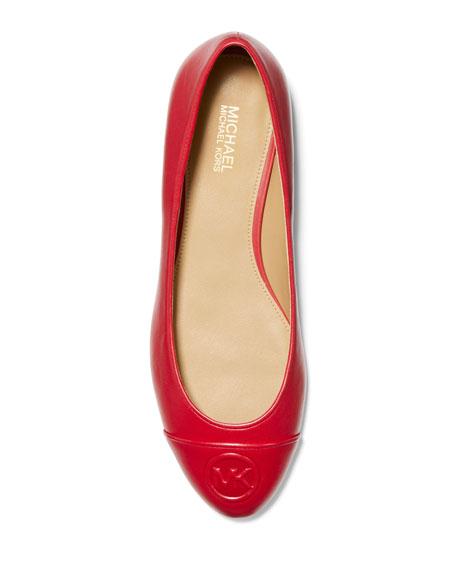 MICHAEL Michael Kors Dylyn Leather Logo Ballet Flats