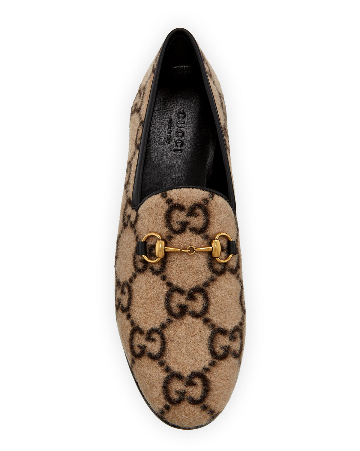 Jordaan Flat Gg Flannel Loafers by Gucci