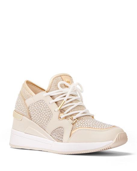 MICHAEL Michael Kors Liv Shimmery Stud Fashion Sneakers