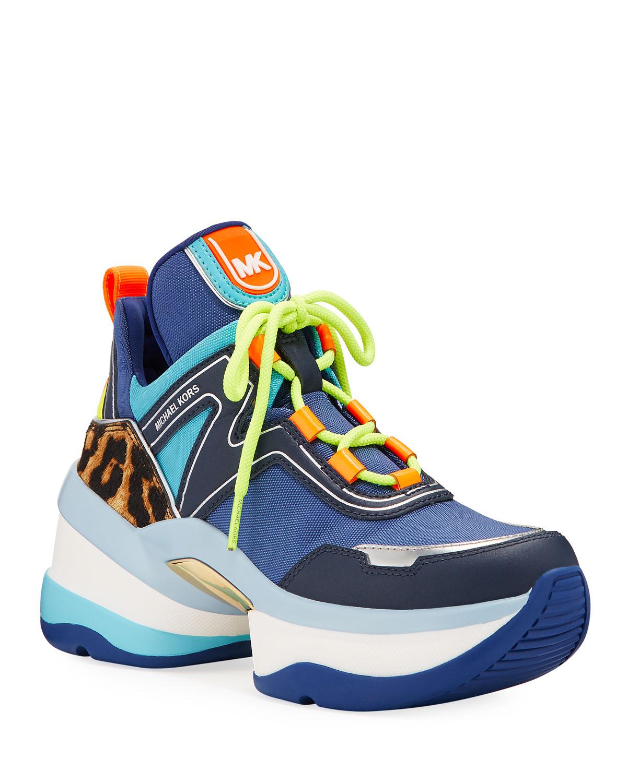 michael kors neon sneakers