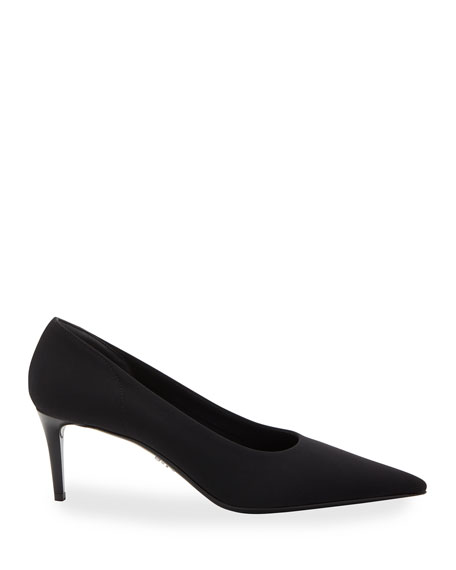 Image 2 of 2: Prada Fabric Stretch 65mm Pumps
