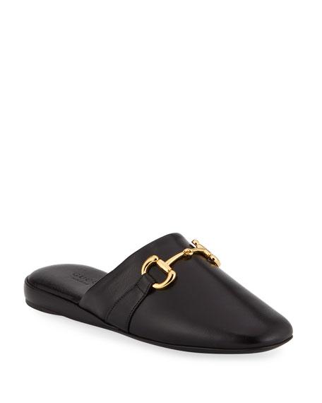 Gucci Mules Pericle Leather Horsebit Mules