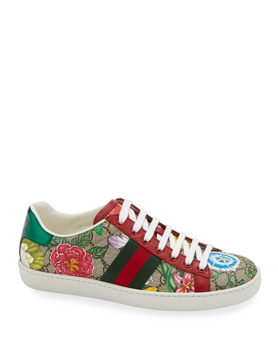 New Ace Flora Canvas Sneakers