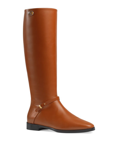 Rosie 25mm Leather Riding Boots