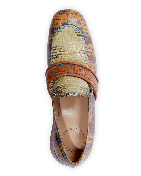 Chloe Cheryl Short Exotic Loafers