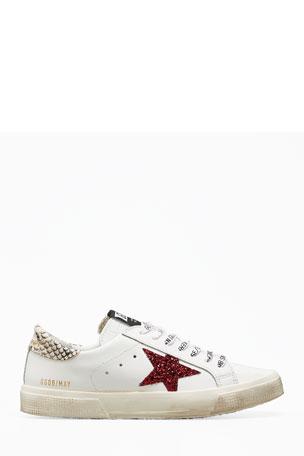 Golden Goose Glitter Star Low-Top Sneakers