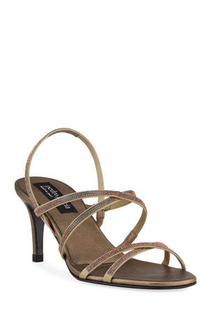 Pedro Garcia Xareni 65mm Crisscross Crystal Sandals