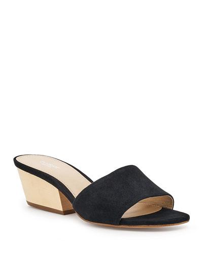 Carlie Slide Suede Sandals