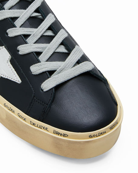 Image 2 of 3: Golden Goose Hi Star Leather Low-Top Sneakers
