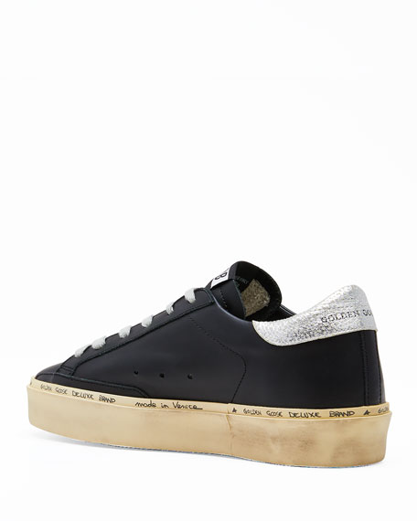 Image 3 of 3: Golden Goose Hi Star Leather Low-Top Sneakers