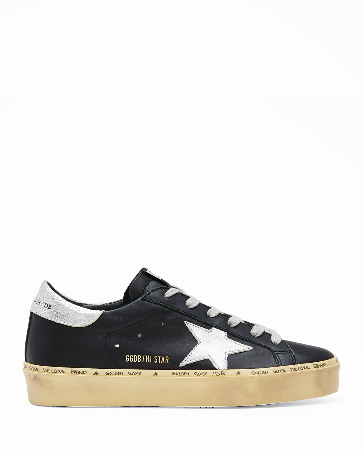 Golden Goose Hi Star Leather Low-Top Sneakers