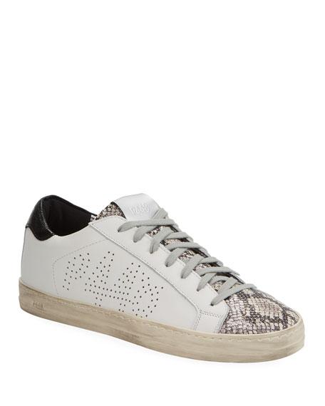 P448 John Python-Print Sneakers
