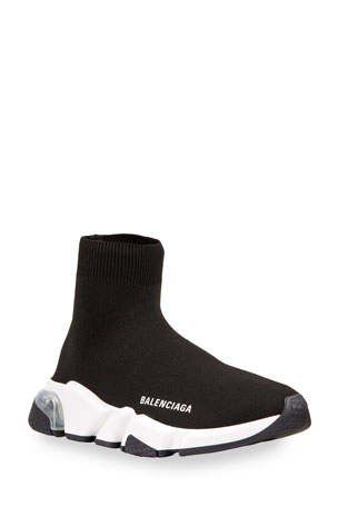 Balenciaga Contrast Logo Speed Sock Sneakers