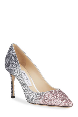 Jimmy Choo Romy 85mm Ombre Glitter Pumps