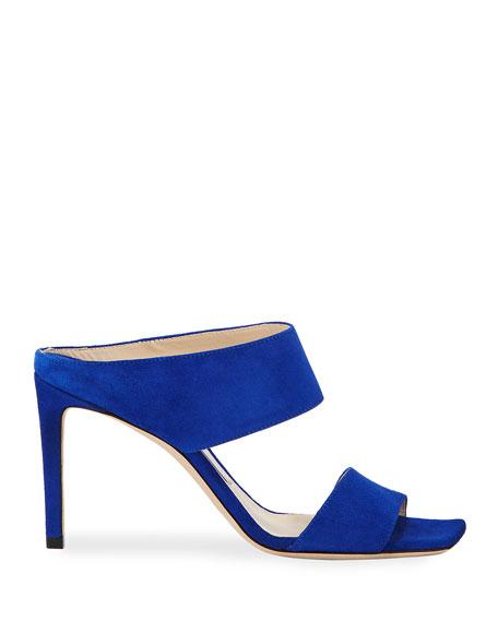 Jimmy Choo Hira Suede Slide Sandals