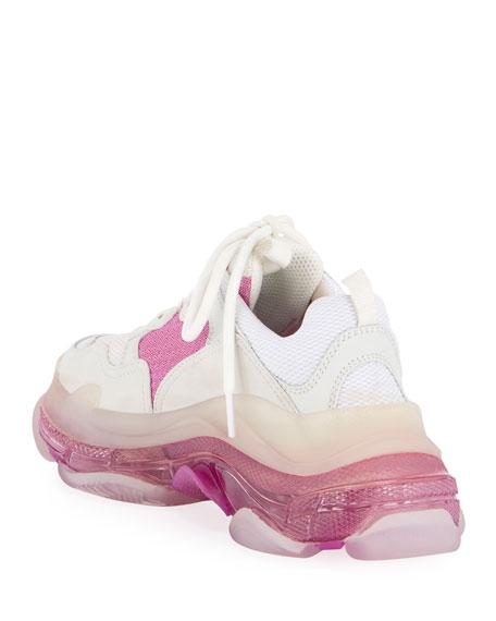 Balenciaga Triple S Neon Trainer Sneakers