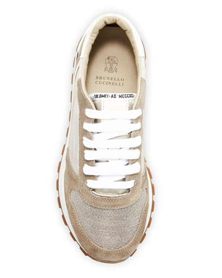 Image 3 of 3: Brunello Cucinelli Monili Runner Sneakers with Logo