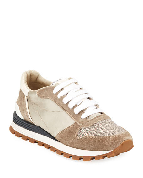 Image 1 of 3: Brunello Cucinelli Monili Runner Sneakers with Logo