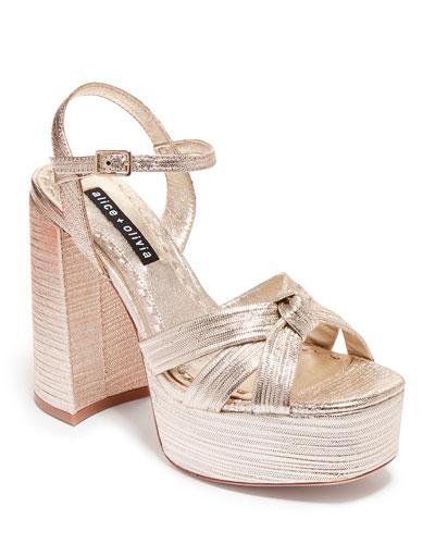 Veren Platform Metallic Sandals