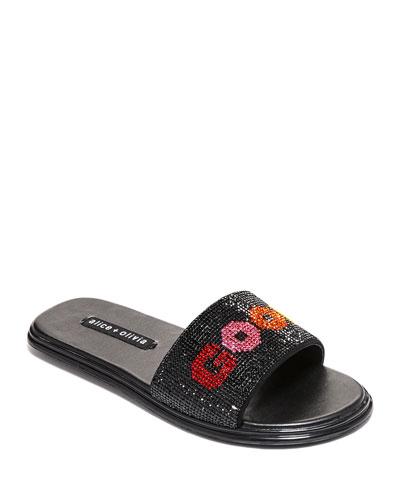 Tatumn Slide Crystal Sandals