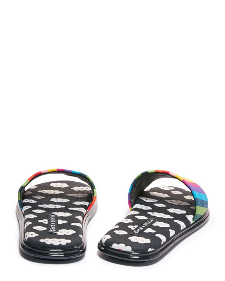 Alice + Olivia Taleen Slide Flat Sandals