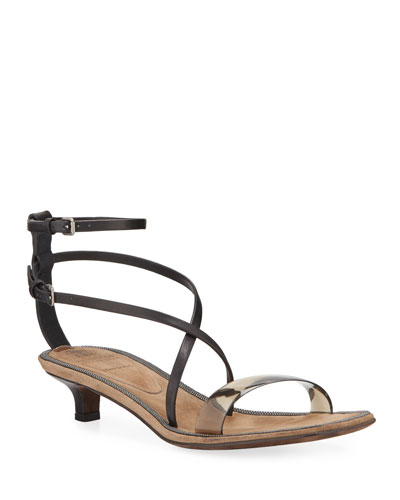 PVC Kitten-Heel Sandals