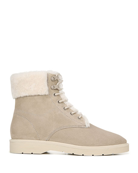 Vince Hayes Water-Repellant Shearling-Lined Lace-Up Boots