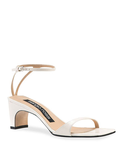 SR1 Mid-Heel Leather Sandals