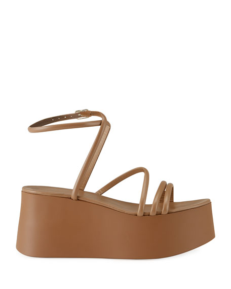 Image 2 of 4: Gianvito Rossi 20mm Strappy Flatform Sandals