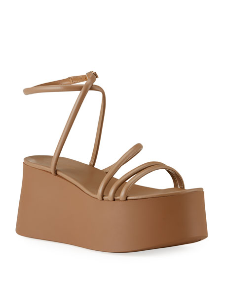Image 1 of 4: Gianvito Rossi 20mm Strappy Flatform Sandals