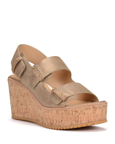Irine Easy Metallic Wedges