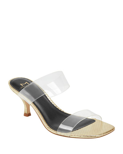 Guadias Two-Band Clear Rubber Slide Sandals